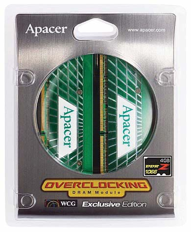 Apacer 4GB DDR2 1066MHz Overclocking Memory Module Kit